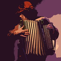 Accordion player takashi KAMIDE is Music Zeitgeist's indie artist of the month for June 2010