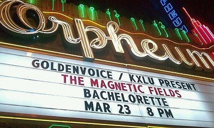 magnetic fields marquee - orpheum theater los angeles